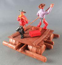 Timpo - Cow Boys - Cowboys sur radeau (réf 1016) 2