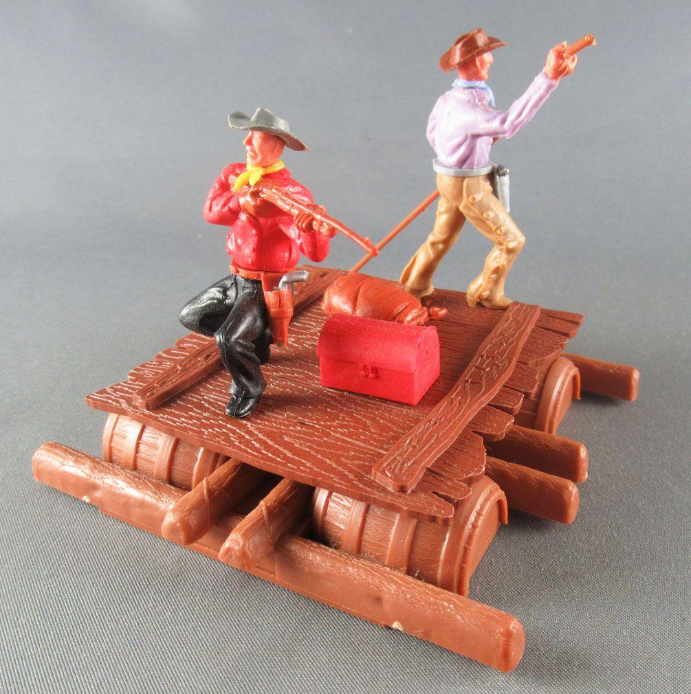 Timpo - Cow Boys - Cowboys sur radeau (réf 1016) 3