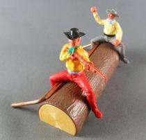 Timpo - Cow Boys - Cowboys sur tronc flottant (Réf 1031) 1