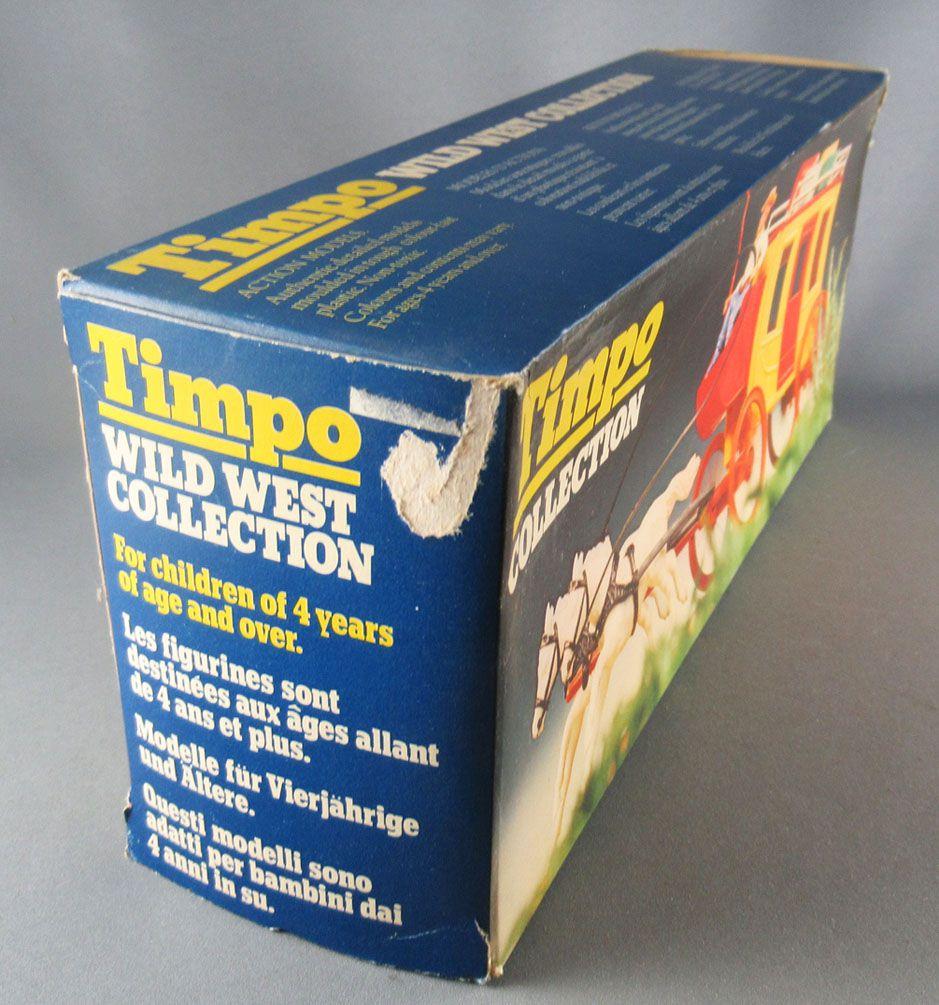 Timpo - Cow-Boys - Véhicule Diligence 2 Chevaux Blancs Neuf Boite (réf 270)