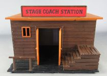 Timpo - Cow Boys - Wild West Building Stage Coach Station (ref 265)