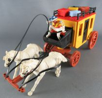Timpo - Cow-Boys - Wild West Vehicles Series StageCoach 2 White Horses 1st Series (ref ST)