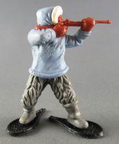 Timpo - Eskimos - Firing Rifle light blue advancing grey legs