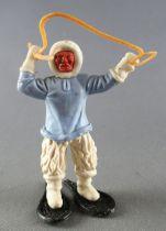 Timpo - Eskimos - Les 2 Bras levés bleu ciel (harpon beige) jambes droites blanches