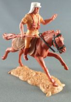 Timpo - Foreign Legion - Mounted left arm raised (rifle) brown galloping (long) horse
