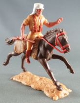Timpo - Foreign Legion - Mounted left arm raised (rifle) dark brown galloping (long) horse