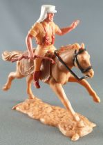Timpo - Foreign Legion - Mounted left arm raised (rifle) light brown galloping (long) horse