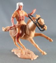Timpo - Foreign Legion - Mounted left arm raised (rifle) light brown galloping (short) horse