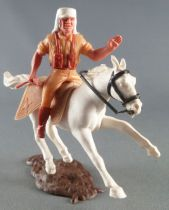 Timpo - Foreign Legion - Mounted left arm raised (rifle) white galloping (short) horse brown base