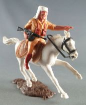 Timpo - Foreign Legion - Mounted pointing (mg) white galloping (short) horse