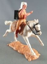 Timpo - Foreign Legion - Mounted radio white galloping (long) horse