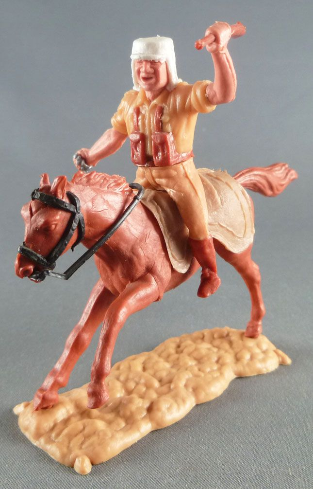Timpo - Foreign Legion - Mounted throwing grenade brown galloping (long) horse