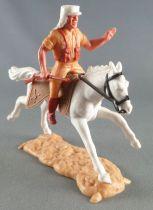 Timpo - Légion Etrangère - Cavalier bras gauche levé (fusil) cheval blanc galop long