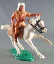 Timpo - Légion Etrangère - Cavalier doigt pointé (fusil) cheval blanc galop court socle vert