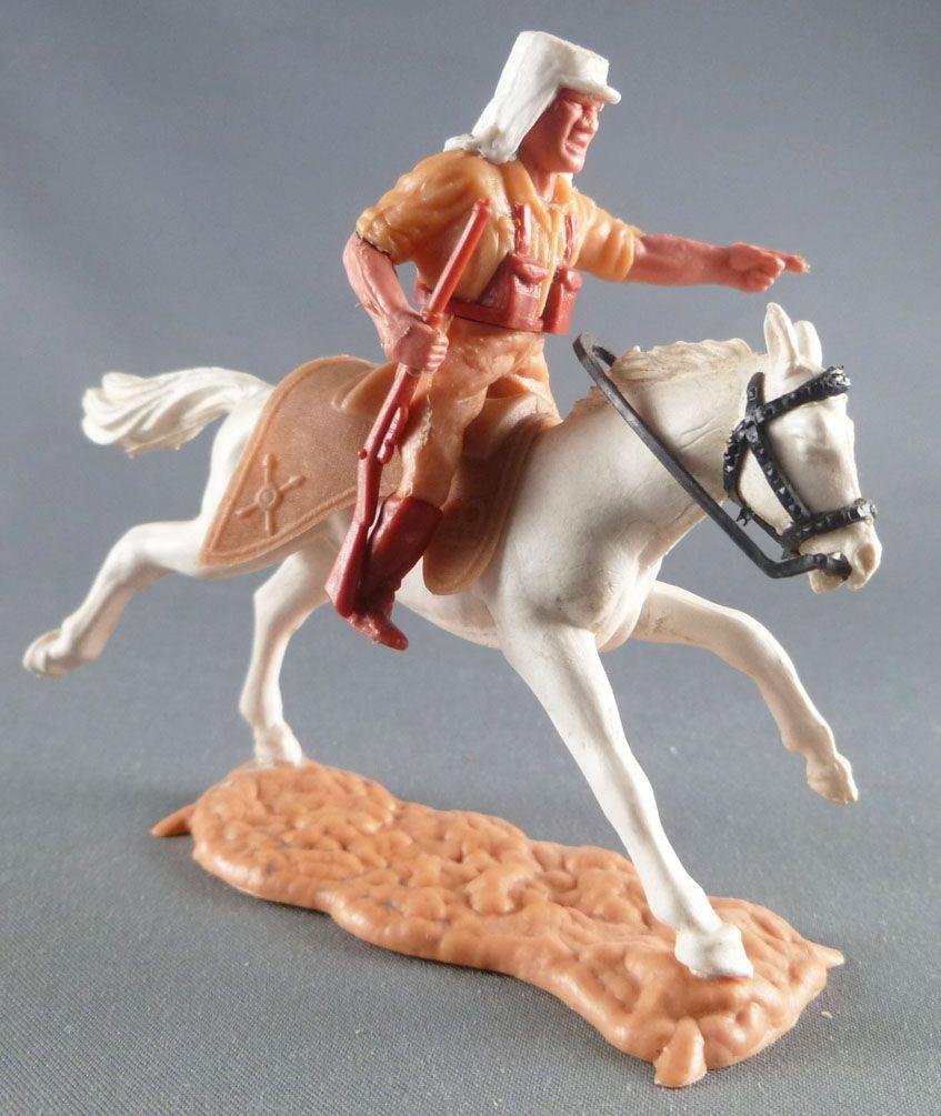 Timpo - Légion Etrangère - Cavalier doigt pointé (fusil) cheval blanc galop long