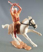 Timpo - Légion Etrangère - Cavalier fusil à deux mains cheval blanc galop court