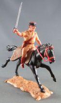 Timpo - Légion Etrangère - Cavalier officier cheval noir galop long