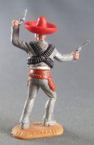 Timpo - Mexicains - Piéton bras gauche levé veste grise (2 révolvers) sombrero rouge jambes grises avancantes