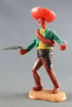 Timpo - Mexicans - Footed both hands at waist height green jacket (2 pistols) red hat brown advancing legs
