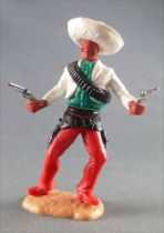 Timpo - Mexicans - Footed both hands at waist height white jacket (2 pistols) white hat red legs with right foot pointing to the