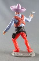 Timpo - Mexicans - Footed right arm pointing blue jacket (pistol) lilac hat red legs with right foot pointing to the right