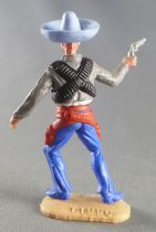 Timpo - Mexicans - Footed right arm pointing grey jacket (pistol) blue hat blue legs with right foot pointing to the right