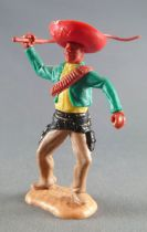 Timpo - Mexicans - Footed right arm raised green jacket (whip) red hat buff legs with right foot pointing to the right