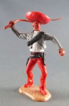 Timpo - Mexicans - Footed right arm raised grey jacket (whip) red hat red legs with right foot pointing ahead