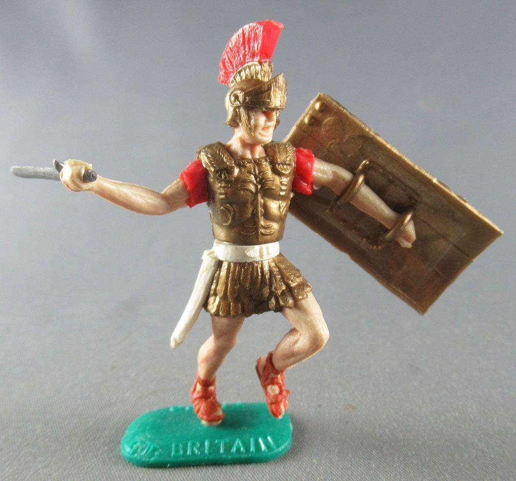 Timpo - Romain - Piéton Centurion (rouge crète large) attaquant glaive
