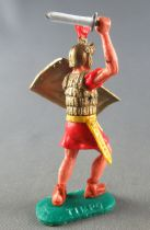 Timpo - Roman - Footed Variation red trooper with sword on advancing legs (instead standing)