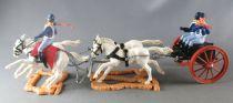 Timpo - Us cavalerie (Nordiste) - Accessoire Véhicule Train d\'Artillerie Proche Neuf Boite (réf 555)