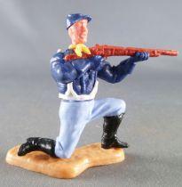 Timpo - Us cavalerie (Nordiste) 2ème série (tête 2 pièces) - Piéton tireur fusil à genoux