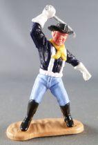 Timpo - Us cavalerie (Nordiste) 3ème série (gants blancs) - Piéton sabre au dessus de la tête (bleu foncé) (chapeau noir - roux)