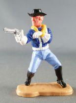 Timpo - Us cavalerie (Nordiste) 3ème série (gants blancs) - Piéton tireur révolver bras en écharpe (bleu moyen) (chapeau noir -