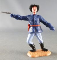 Timpo - Us cavalery (Federate) 2sd séries (2 pieces head) - Footed officer right arm outstreched (pistol) leaning to the right