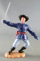 Timpo - Us cavalery (Federate) 2sd séries (2 pieces head) - Footed officer right arm outstreched (sabre) leaning to the left l