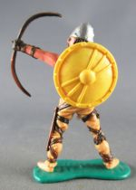 Timpo - Viking - Footed Archer (brown hairs) buff standing legs yellow shield