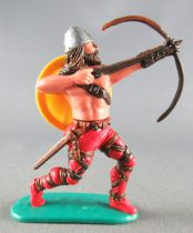 Timpo - Viking - Footed Archer (brown hairs) red advancing legs yellow shield