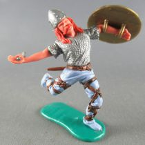 Timpo - Viking - Footed Wounded by arrow (broken arrow) (red hairs) blue running  legs sword gold shield