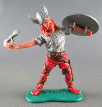 Timpo - Viking - Footed Wounded by arrow (broken arrow) (red hairs) red standing legs double axe silver shield