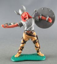 Timpo - Viking - Footed Wounded by arrow (red hairs) buff standing legs double axe grey shield