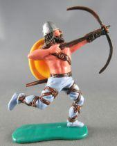 Timpo - Viking - Piéton Archer (brun) jambes courantes bleues bouclier jaune