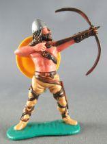 Timpo - Viking - Piéton Archer (brun) jambes ecartées beiges bouclier jaune