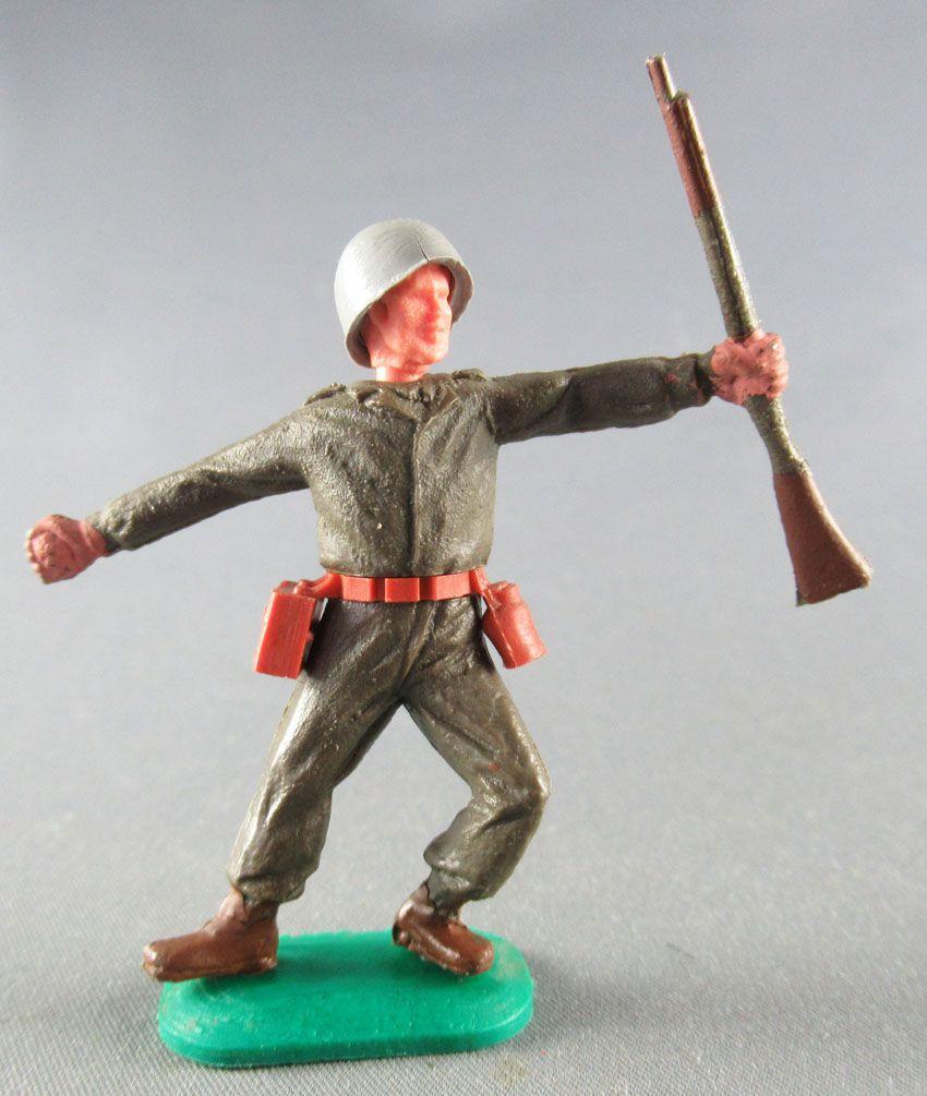 Timpo - WW2 - Américains - 1ère série - Lanceur grenade jambes pliées vers la gauche