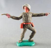 Timpo - WW2 - Américains - 1ère série - Pointant et révolver jambes pliées vers la gauche