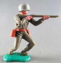 Timpo - WW2 - Américains - 1ère série - Tireur fusil épaule les 2 jambes pliées vers la gauche