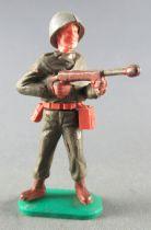 Timpo - WW2 - Américains - 1ère série - Tireur fusil mitrailleur poitrine jambes droites