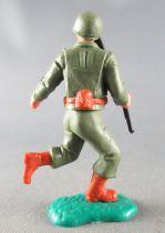 Timpo - WW2 - Américains - 2ème série - Les 2 bras baissés (fusil) jambes courantes