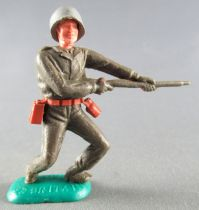 Timpo - WW2 - Americans - 1st series - Firing rifle waist both bent to the left legs