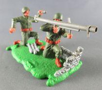 Timpo - WW2 - Americans - 2nd series - Bazooka team scene (ref 1019 )